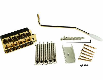 """Kluson vintage tremolo bridge 2 7//32/"""" spacing Gold same as Fender 099-2049-000"""