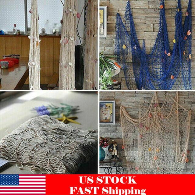 Nautical Seaside Beach Decorative Sea Ocean Fish Net Home Wall Party LS