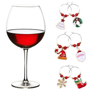 6x-Christmas-Wine-Glass-Rings-Mark-Charms-Pendant-Xmas-Party-Table-Decor-Gift-JL