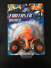 FANTASTIC 4 FOUR HUMAN TORCH ATV FIGURE With Vehicle MARVEL TOYBIZ