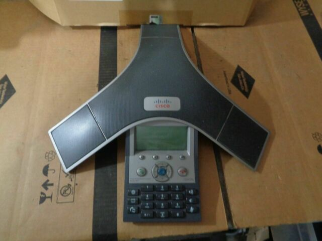 CISCO CP-7937 CONFERENCE PHONE WITH 2X POLYCOM MICROPHONES