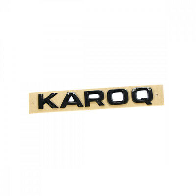 Original Skoda Kodiaq Karoq Schriftzug schwarz Heckklappe Emblem Black Line logo