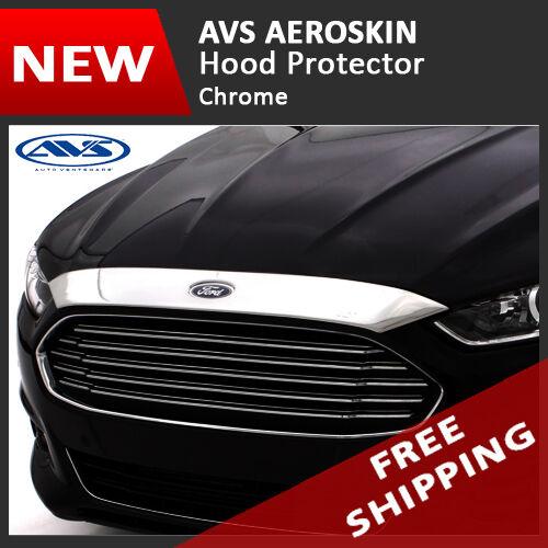 AVS AEROskin Chrome Hood Protector Bug Shields Guard for 13-15 Chevy Traverse