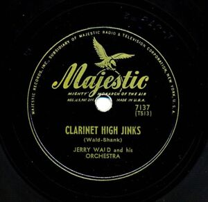 JERRY WALD and his Orchestra on 1945 Majestic 7137 - Clarinet High Jinks