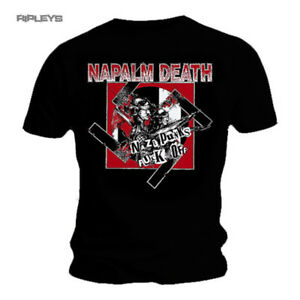 Official-T-Shirt-NAPALM-DEATH-Black-Death-Metal-NAZI-Punks-All-Sizes