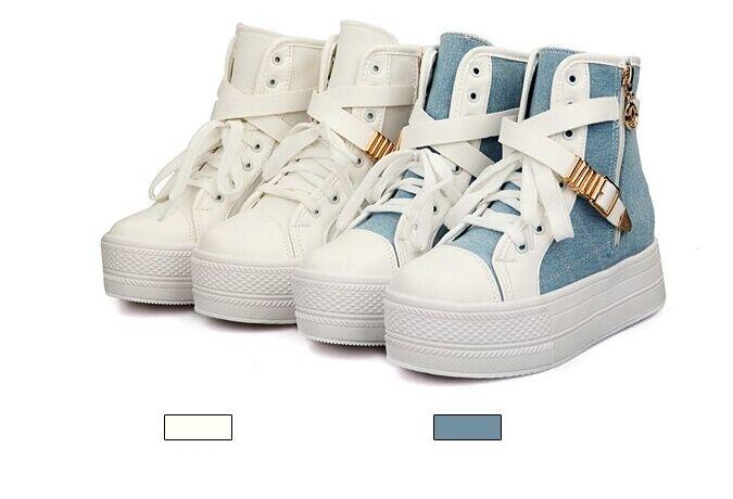 Chaussures de sport bottines été femme compensé 4 cm disp 8328