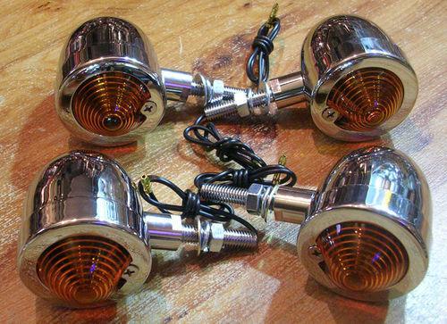 4x clignotant clignoteur moto custom bobber chopper markerlight
