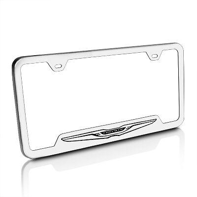 Chrysler New Logo Brushed Stainless Steel 50 States License Plate Frame
