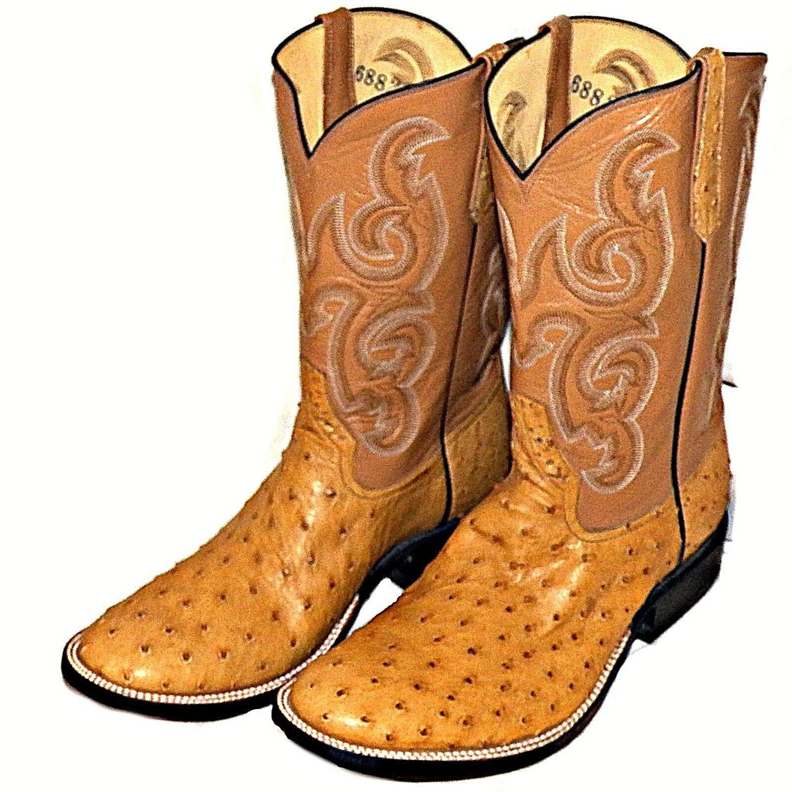 Silla Antigua Rios Of Mercedes Completo Pluma Avestruz vestido de vaquero botas hombres 10 E
