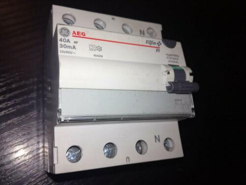 GE 4-poliger FI-Schalter 604206   40A AEG Elfa EM 40//4//30 A