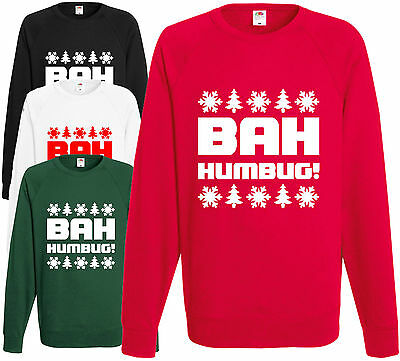 Bah Humbug! Christmas Sweatshirt Funny Xmas Jumper Pullover Gift Present Unisex