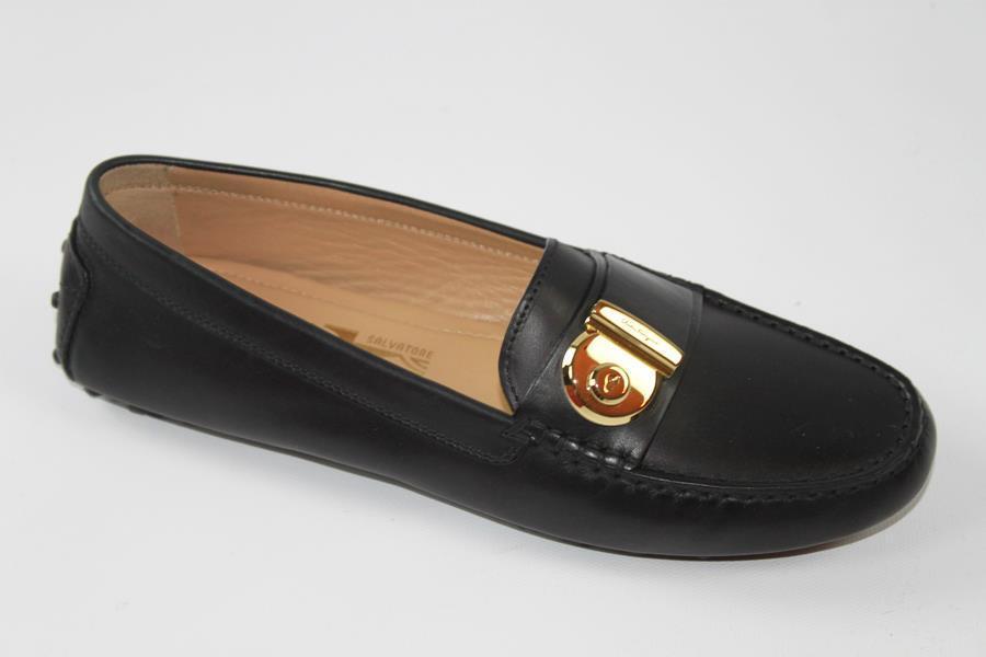 AUTH Salvatore 8.5 Ferragamo Women Fiammad Loafer Shoes 8.5 Salvatore 30faf8