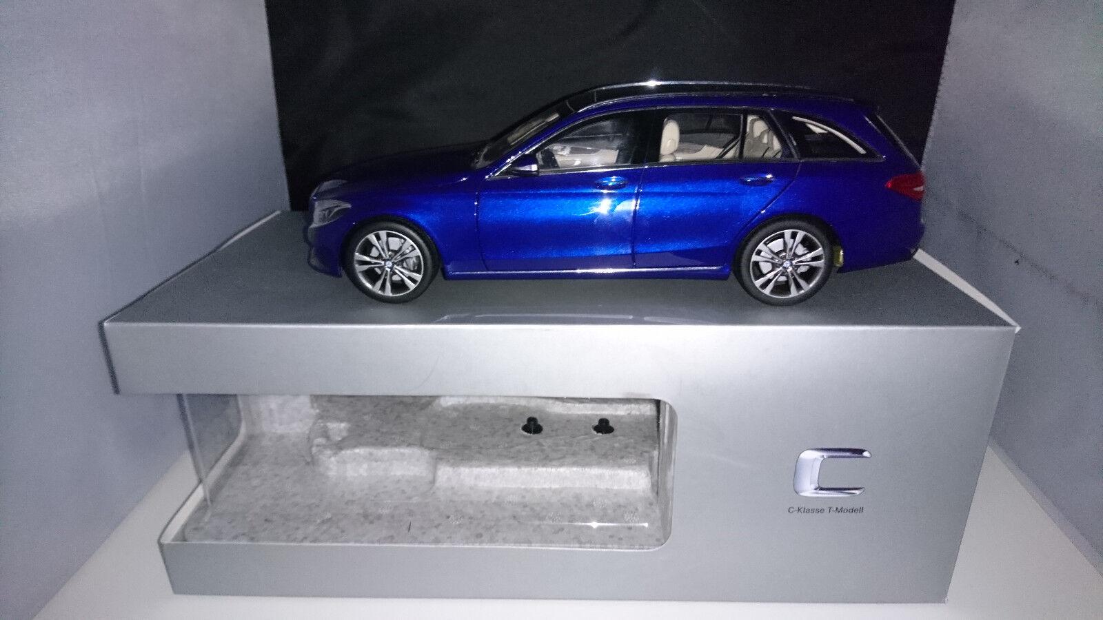 1 18 Norev Mercedes Classe C T-Modèle s205 AVANTGARDE bleumetallic  neuf dans sa boîte  magasin pas cher