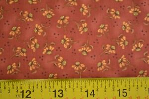 By-1-2-Yd-Rust-Calico-Quilting-Clothworks-Quigley-Country-Garden-Y0848-51-B982