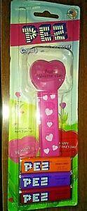 Vintage-Valentine-Red-Happy-Valentine-039-s-Day-Heart-PEZ-Dispenser-NEW-in-packaging