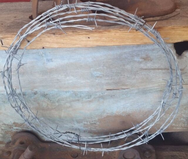 15 Feet Roll Barb Wire Made in The USA 18 Gauge 4 PT Arts-crafts ...