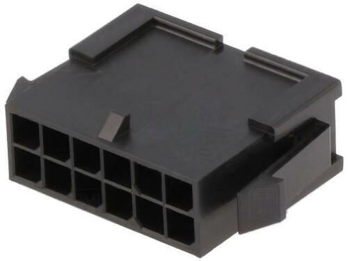 12 MOLEX 2X 43020-1200 Stecker Leitung-Leitung männlich Micro-Fit 3.0 3mm PIN