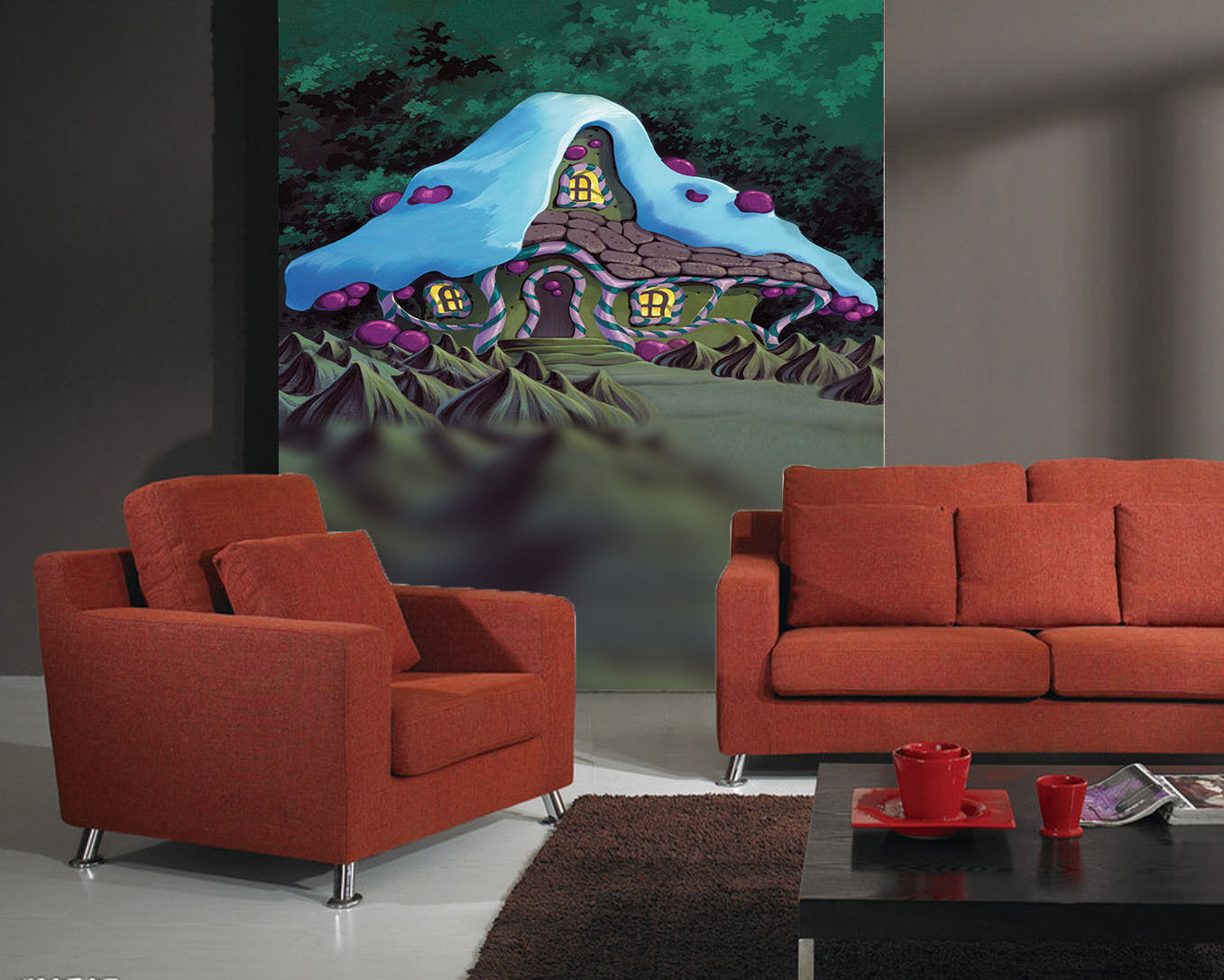 3DMaison Cartoon 18 Photo Papier Peint en Autocollant Murale Plafond Chambre Art