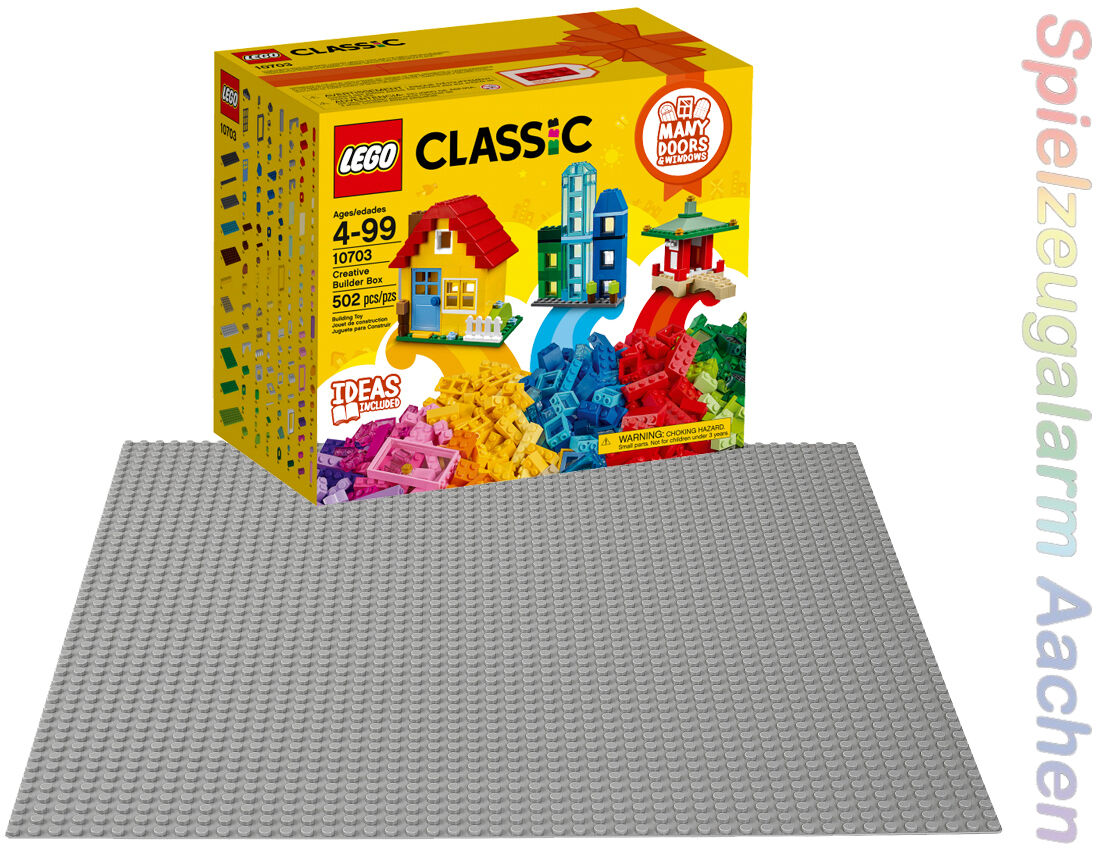 LEGO 10703 Classic creativi Bauset edificio + 10701 COLORE GRIGIO piastra di base n2/17