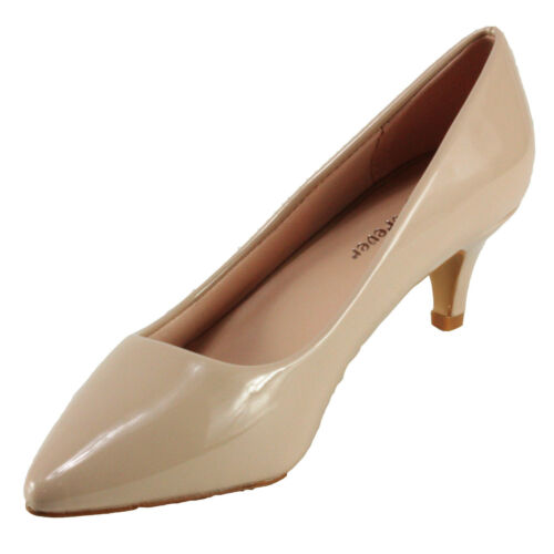 Forever Women/'s Aubree-16 Pointed Toe Patent leatherette Kitten Heel Dress Pumps