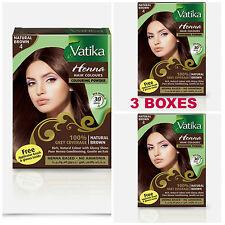 3 Boxes Dabur Natural Brown Henna Hair Color Powder No Ammonia W
