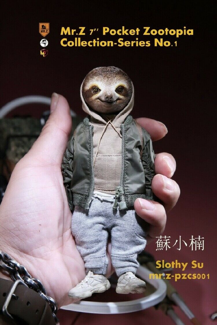Poche Zootopia doll Anime Folivora slothy su 7  modèle animal M. Z action figure