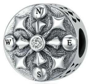Vintage-Compass-Charm-100-925-Sterling-Silver-Pandora