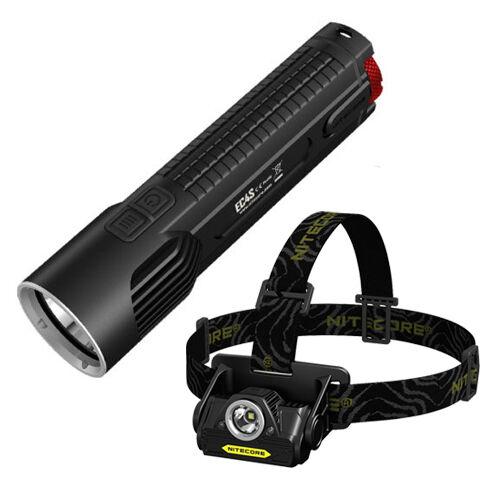 Bundel  Nitecore EC4S 2150Lm FlashLicht Nitecore HA20 Headslamp