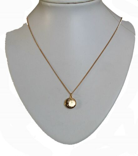 Small Round 12mm Gold Plated Locket Necklace