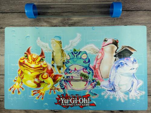 YuGiOh Frog Custom Playmat TCG CCG Master Rule 4 Link Zones Mat Free Best tube