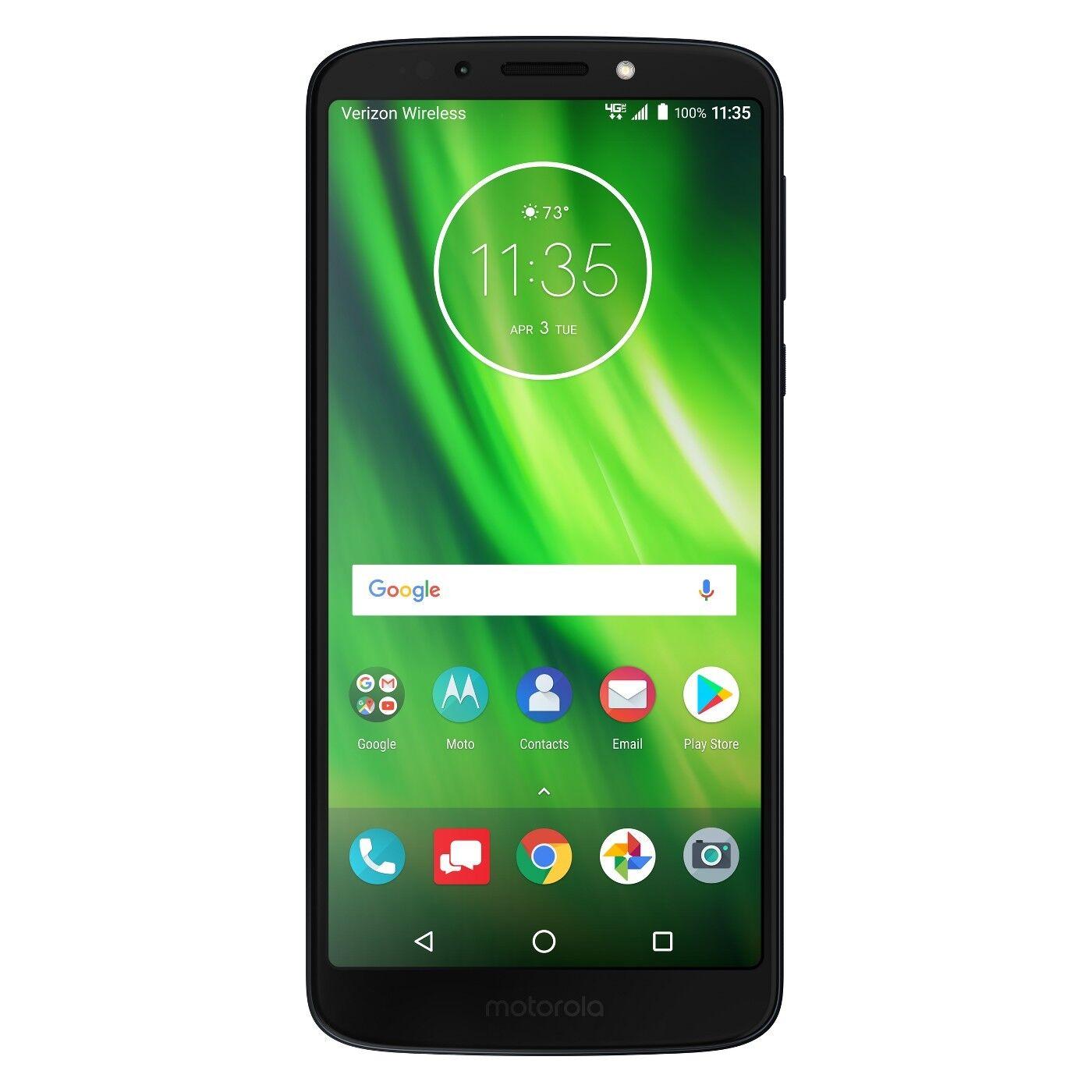 "Motorola MOTXT19226PP Verizon Prepaid Moto G6 Play 16GB 5.7"", Smartphone,"