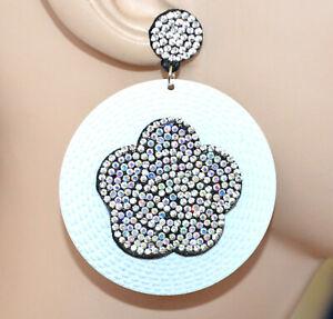 ORECCHINI-donna-bianchi-cerchi-pendenti-fiore-strass-boreali-brillantini-CC108