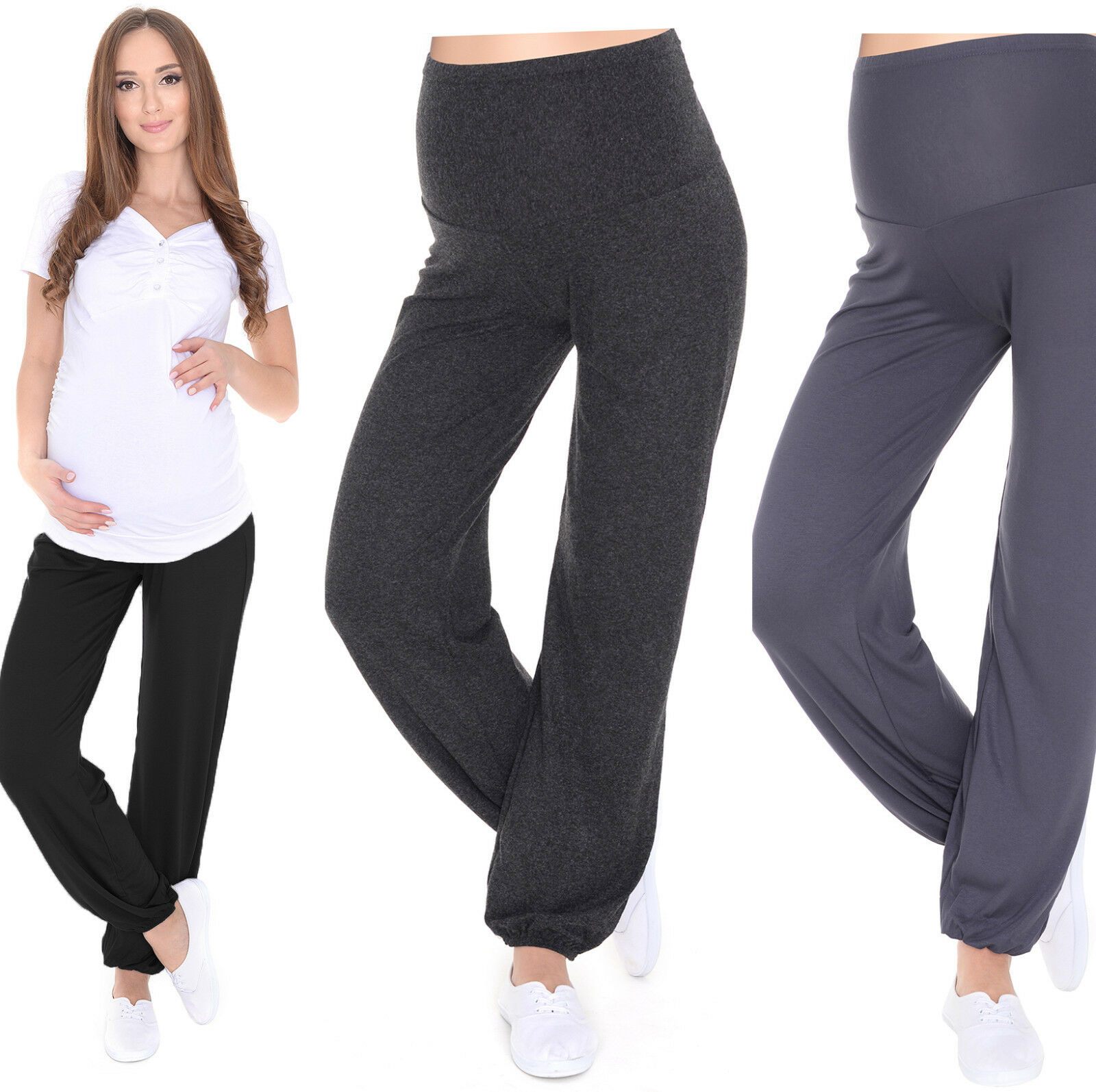 MijaCulture Relaxed Maternity trousers pants Harem Aladin with ...