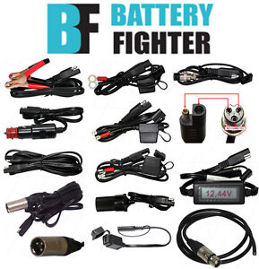 Battery fighter sla battery charger leads cables connectors ebay image is loading battery fighter sla battery charger leads cables amp sciox Image collections