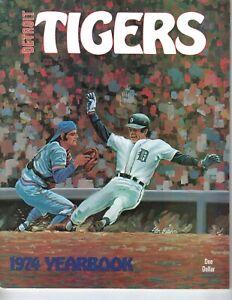 1974-Detroit-Tigers-Yearbook-Baseball-magazine-Willie-Horton-Al-Kaline-VG
