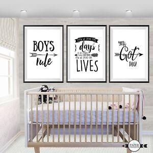 Boys wall Prints// Nursery Prints//Monochrome wall prints,Various Sizes