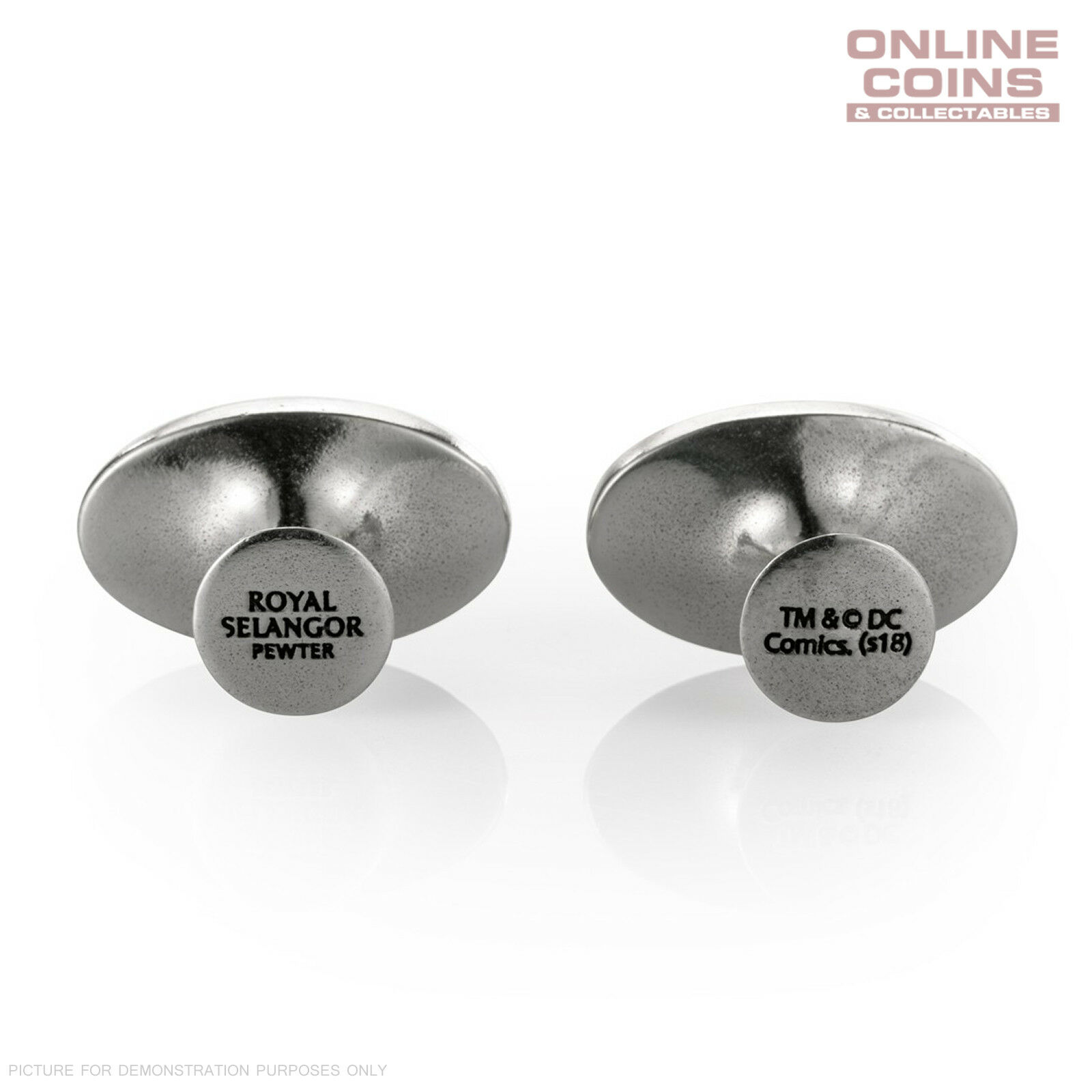 DC Comics Pewter Batman Insignia Cufflinks Officially Licensed by Royal Selangor