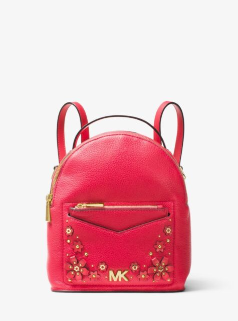 aa522c10ba0d Michael Kors Jessa Small Floral Embellished Leather Convertible Backpack