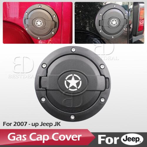 Fuel Filler Door Cover Gas Tank Cap Upgrade for Jeep Wrangler JK JKU 2007-2017