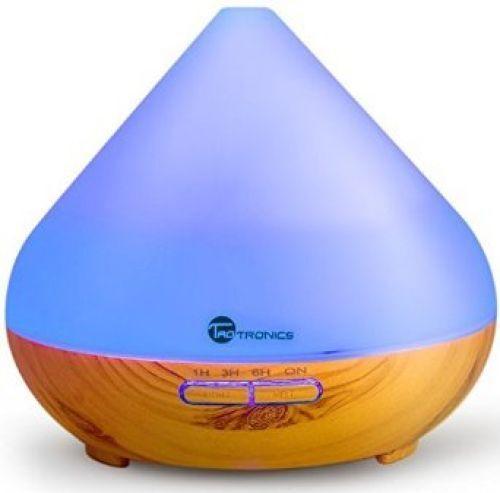 TaoTronics Aroma Diffuser 300ml Luftbefeuchter Öl Düfte Holzmaserung 7 Farben