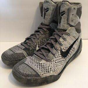 premium selection 319b3 90fdf Image is loading Nike-Air-Kobe-9-IX-Elite-Detail-Grey-