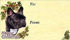 French Bulldog Christmas Labels by Starprint - No 2