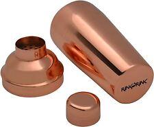 Manhattan Copper 3 Piece Cocktail Bar Shaker With Strainer - 800ml