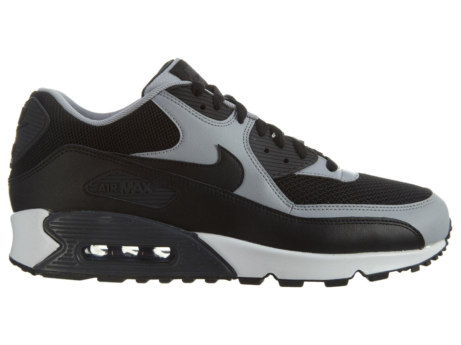 Nike Air Max 90 Essential Mens 537384-053 Black Wolf Grey Running Shoes Comfortable Seasonal clearance sale