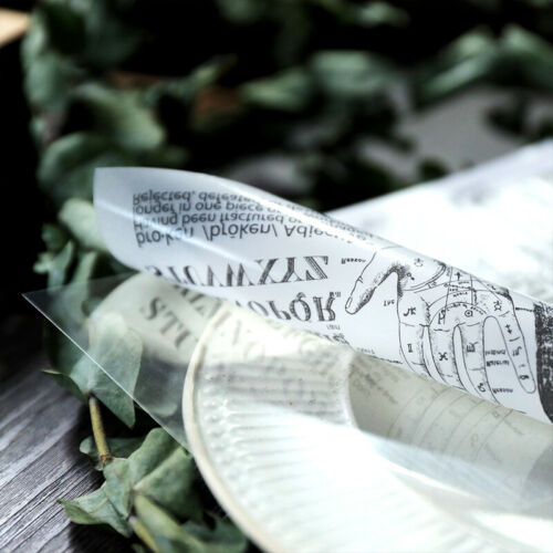 8X Self Adhesive Vellum Paper Die Cuts Scrapbooking Card Making Pergamentpapier