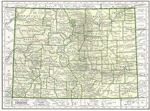 Colorado Map Art.1942 Vintage Colorado Map Antique Map Of Colorado Gallery Wall Art