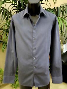 Giorgio-Armani-Casual-Shirt-17-36-LT-Sharp-Black-Stripes