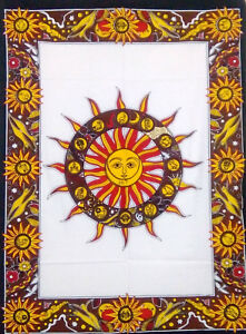 Beautiful Design Indian Traditional  Sun Sign Small Tapestry Poster 100/%Cotton