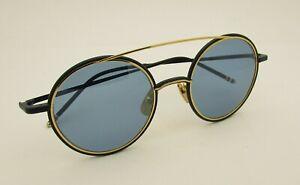 f1808d814865 Thom Browne TB-108-C-T Sun CT Matte Navy Blue 18K Gold Tone ...