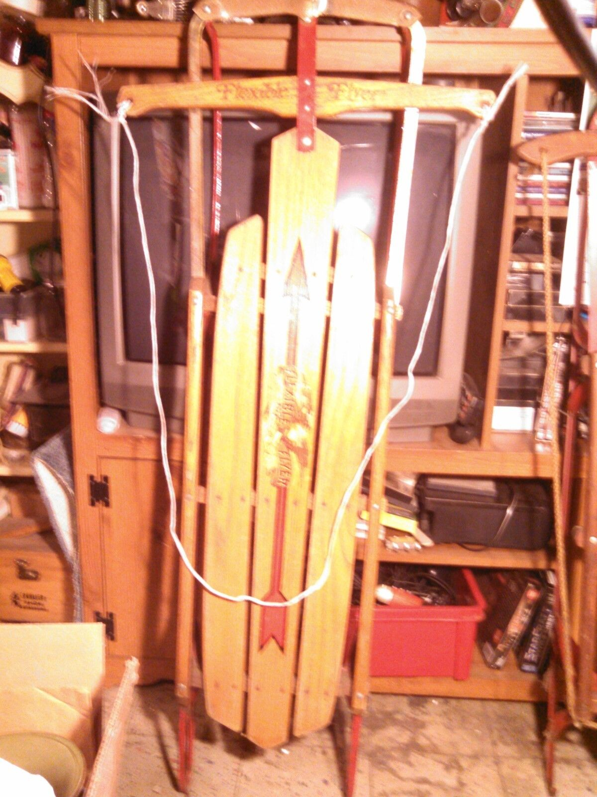 Vintage Flexible Flyer Model 51 Winter Wooden & Metal Sled (51 )